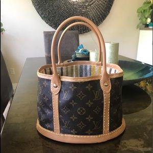 Louis Vuitton customized authentic vintage bucket